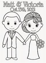 Coloring Pages Printable Sheets Bride Sheet Colouring Groom Couple Weddings Books Bridal Barbie Adult Cake Template Activity Anniversary Pdf Reception sketch template