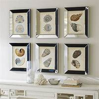 mirrored picture frames Shells in Mirror Frame Art