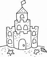 Castle Coloring Sand Clip Template Sketch Galleryhip Credit Larger sketch template