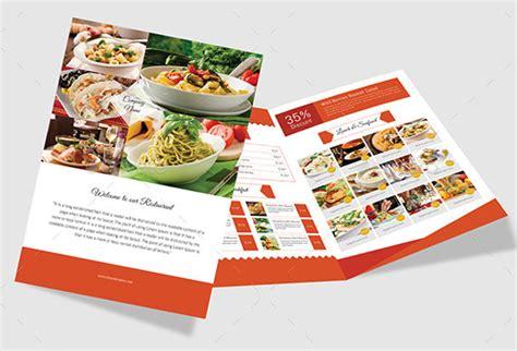 amazing psd restaurant brochure templates  inspiration