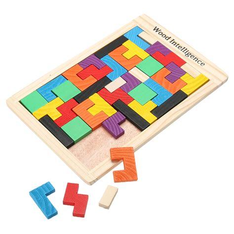 mainan puzzle tangram tetris multi color