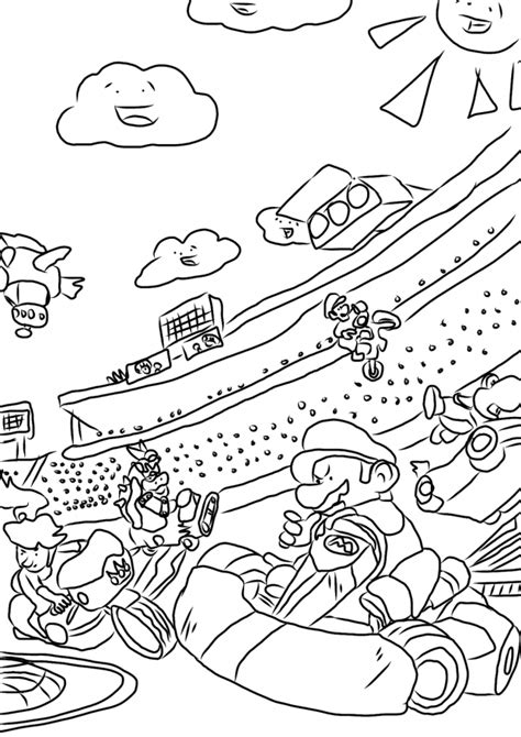 mario kart wii coloring pages coloring home