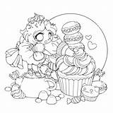 Coloring Chibi Fairy Frosting Printable Anime Categories Stuff Yampuff sketch template