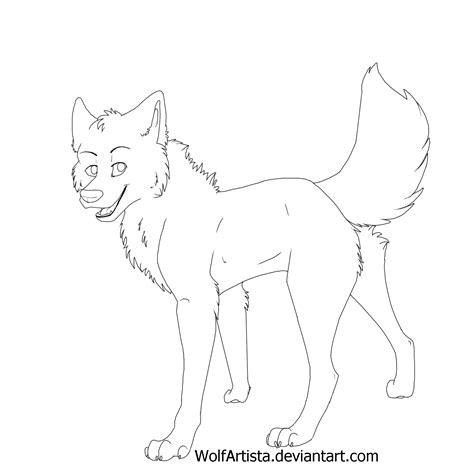 Free Male Wolf Lineart By Wolfartista On Deviantart
