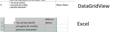datagridview  quebra de linha porem ao exportar