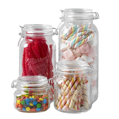 Clear Glass Kitchen Canister Sets by Glass Jar Set Kitchen Canister Preserving Food