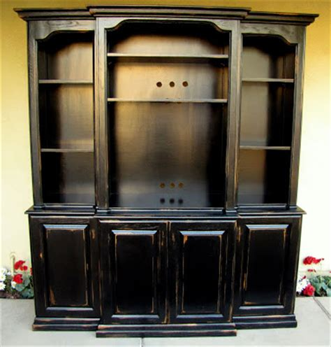 dusty gem decor black french country entertainment center