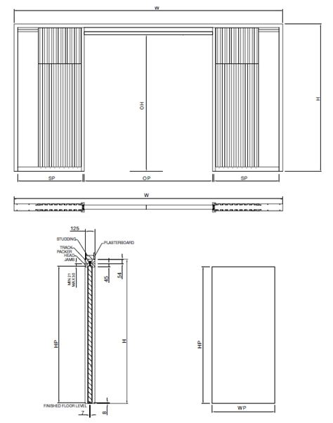 architrave free adjustable sliding pocket door kit