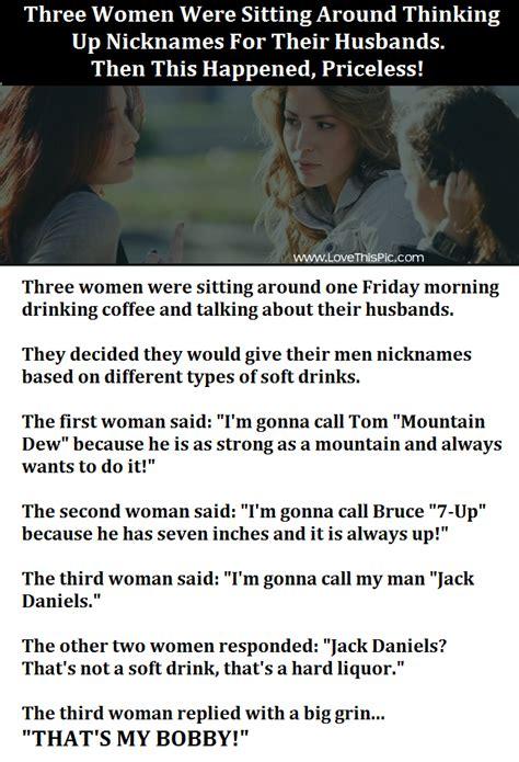 woman  giving  husbands funny nicknames