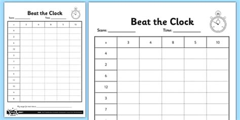 year  beat  clock editable times tables grid tables
