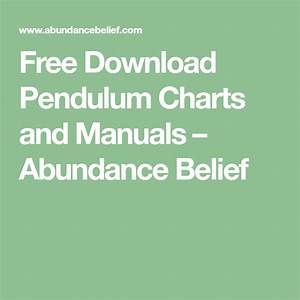 Free Download Pendulum Charts And Dowsing Manual Guide