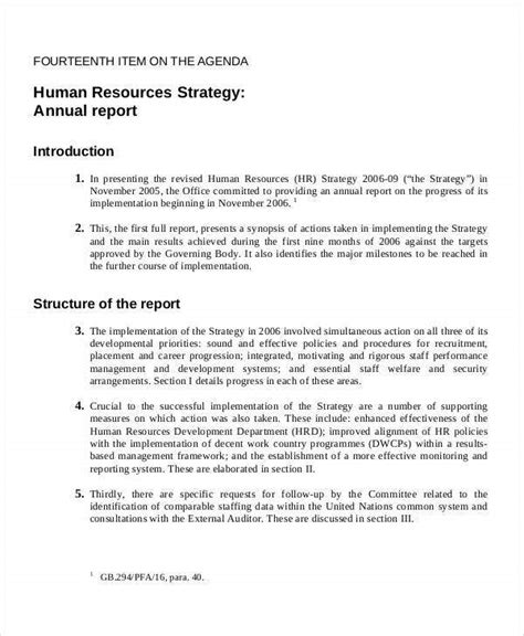 strategy report template    documents