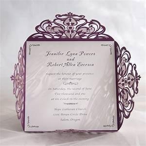 classic purple laser cut wedding invitations iwsm036 With laser cut pocket wedding invitations canada