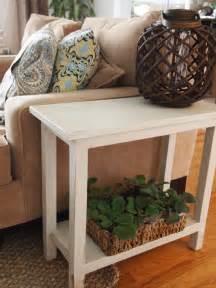 quaint cottage aged finish narrow diy  table