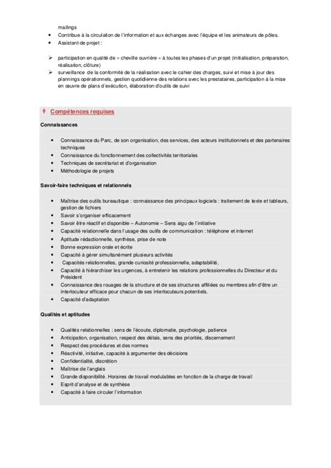 fiche de poste secretaire de direction modele fiche de poste secretaire de direction document