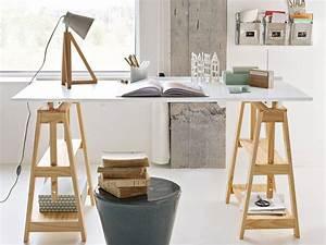 Bureau Architecte Ikea : o trouver des tr teaux design pour un bureau home ideas trestle desk desk et wooden desk ~ Teatrodelosmanantiales.com Idées de Décoration