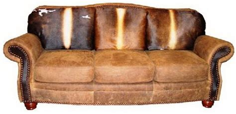 Western Cowhide Furniture by Cowhide Western Furniture Sofa For The Ranch
