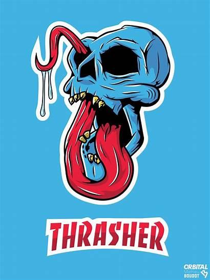 Thrasher Wallpapers Skate Skull Skateboard Iphone Dope