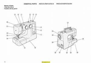New Home Janome Jd1812 Sewing Machine Instruction Manual