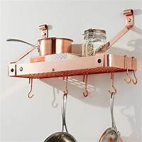 copper pot rack Enclume Copper Bookshelf Pot Rack + Reviews | Crate and Barrel