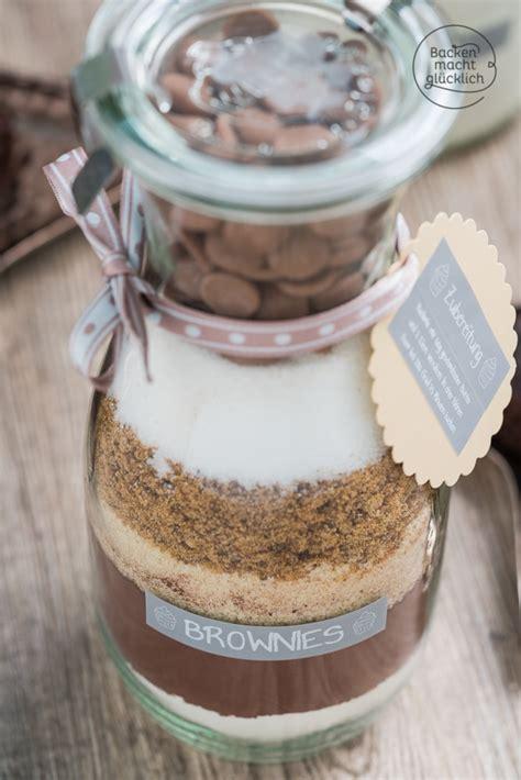 brownie backmischung im glas backen macht gluecklich