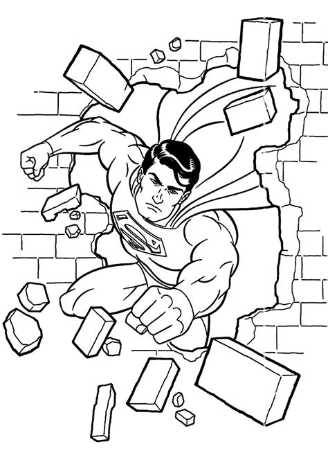 Lego Superman Coloring Page Coloring Home