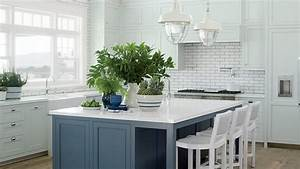 5 star beach house kitchens coastal living With kitchen colors with white cabinets with large sun face wall art