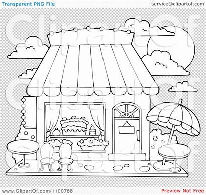Candy Cake Illustration Outdoor Coloring Pages Clipart