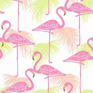Fine Decor Flamingos Wallpaper FD42213