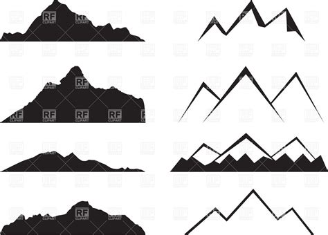 mountain clipart peak clipart mountain silhouette pencil and in color