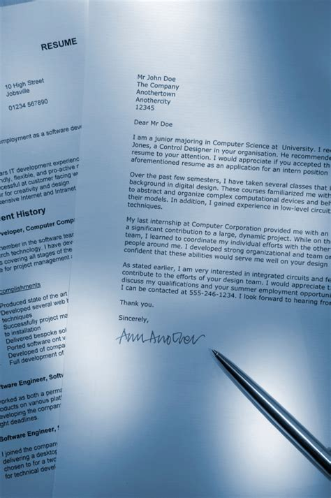 crafting a cover letter to complement your resume