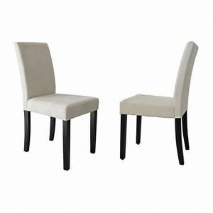 clara lot de 2 chaises de salle a manger en tissu couleur With salle À manger contemporaineavec chaise en couleur pas cher
