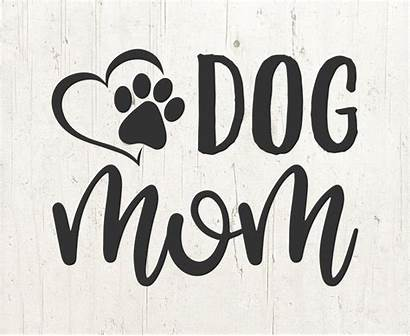 Svg Mom Dog Mama Silhouette Lover Clipart