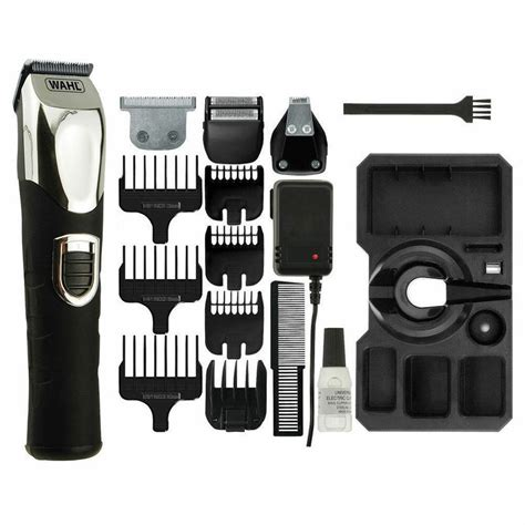wahl deluxe mens hair beard shaver clipper trimmer grooming