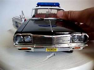 Chevrolet Tahoe Police Lights 1 18 64 Chevy Impala Police Car Working Lights Custom Ertl