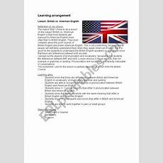 British Vs American English > Complete Lessonplan  Esl Worksheet By Patriesjaaa
