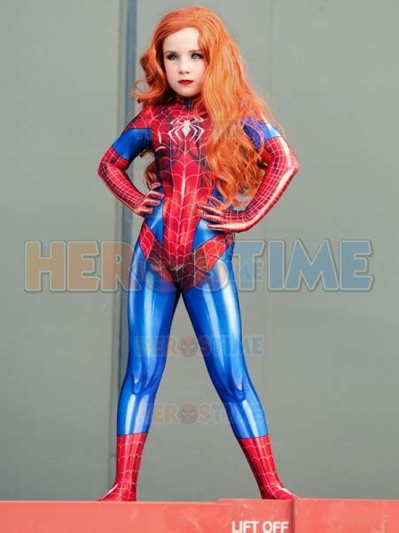 high quality mary jane suit mj spider girl kids lycra
