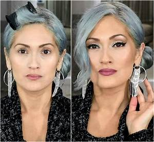 Almay Smart Shade Light Beauty101bylisa Makeup For Gray Silver Hair Giveaway