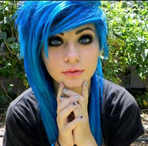 heythereimshannon youtuber youtubers emo scene hair