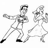 Coloring Dancing Pages Dance Couple Ballroom Printable Festival Print Getcolorings sketch template
