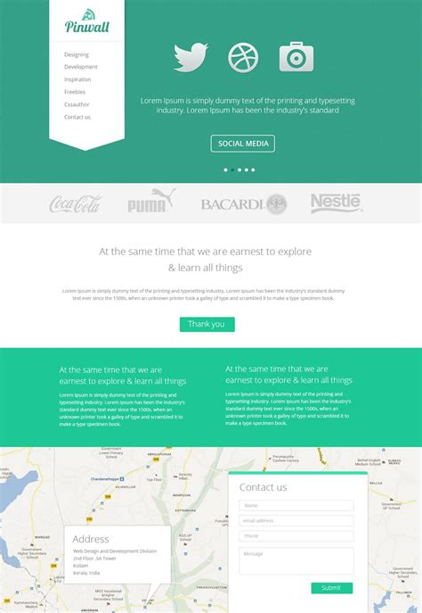 Webstite Templates Free Web Page Templates Psd 187 Css Author