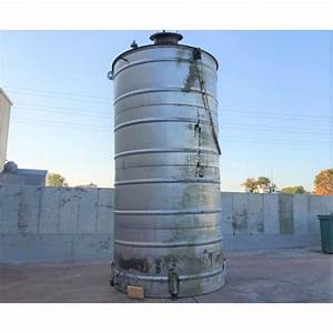 Used 8 39 Dia Stainless Steel Vertical Tank 6 000 Gallons