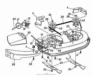 Mtd 13aq670g372  1998  Parts Diagram For Deck Assembly