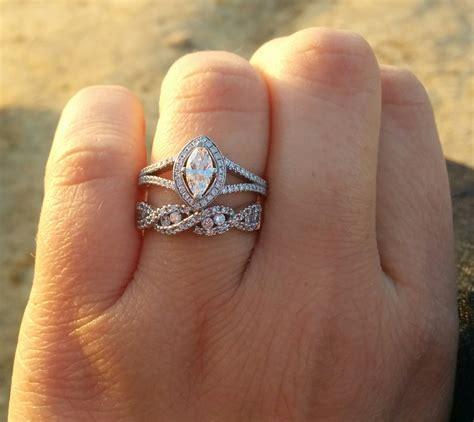 infinity wedding band  engagement ring