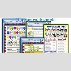 English Teaching Worksheets The Age