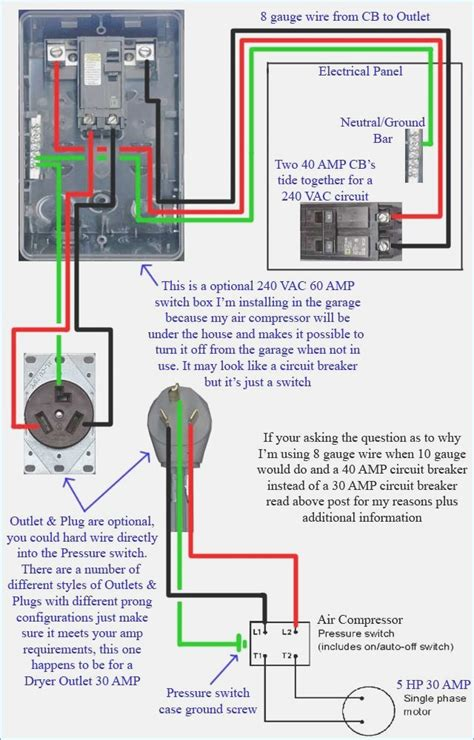 how to wire a 240v air compressor diagram moesappaloosas