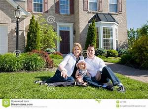 Family In Front Of House Royalty Free Stock Images - Image ...