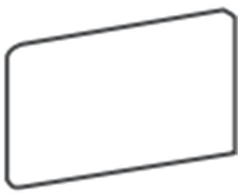 daltile semi gloss 3x6 arctic white right corner flat cap