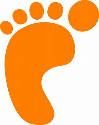 Clip Footprint Orange Foot Footprints Prints Printable