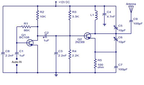 Transmitter With Two Transistor Audio Wiring Diagram